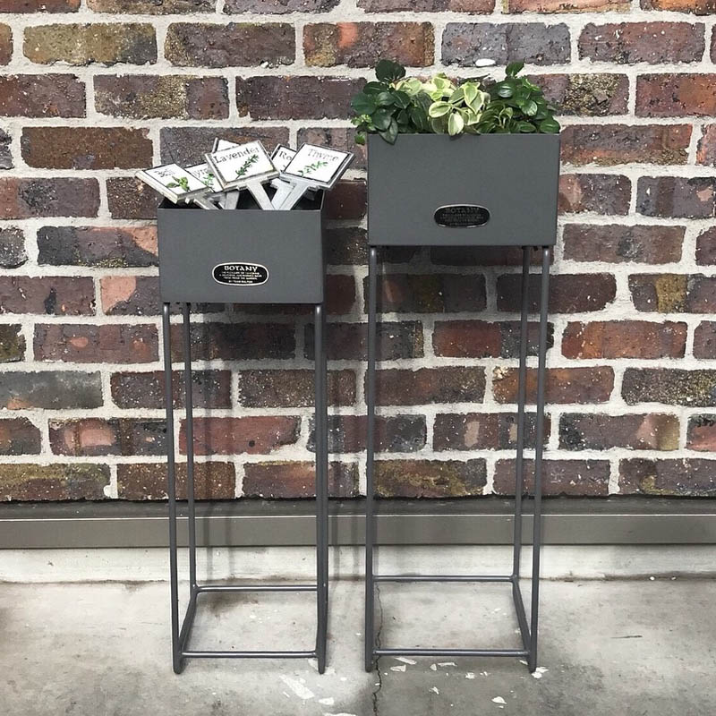 METAL PLANTER BOX SQUARE L