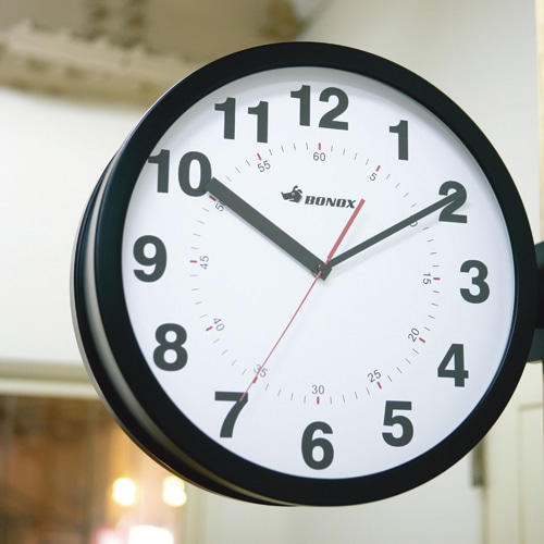 D.FACE WALL CLOCK SILVER
