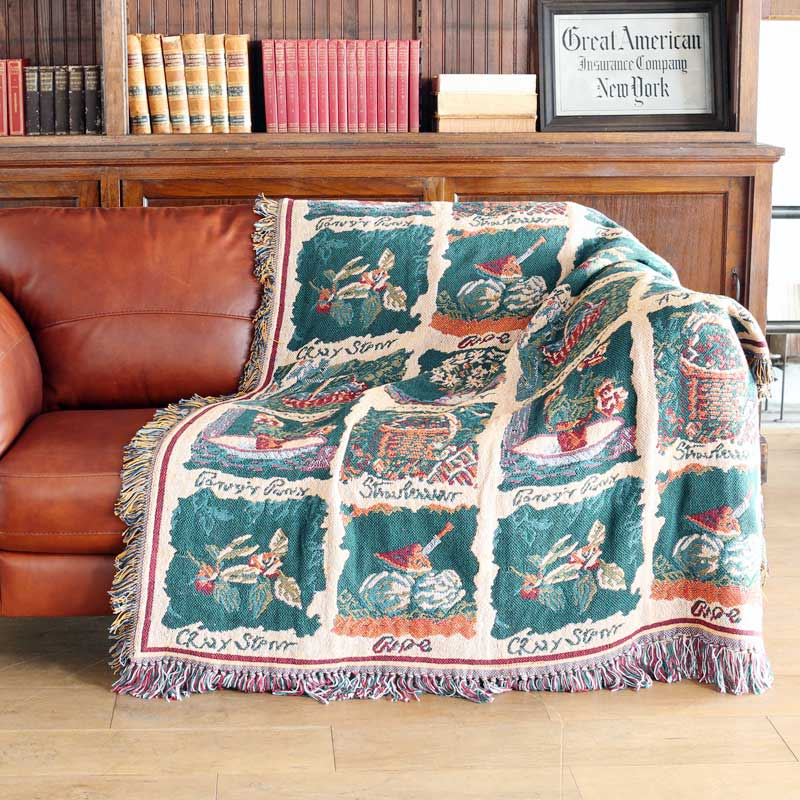 JACQUARD THROW ''BOTANY''