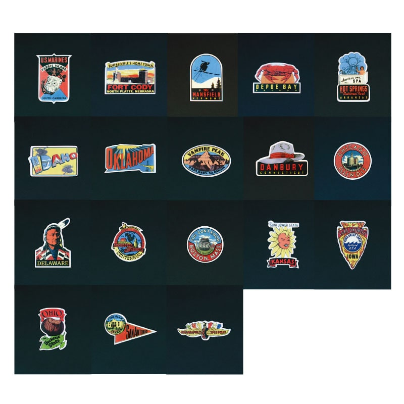 OLD STATES STICKERS