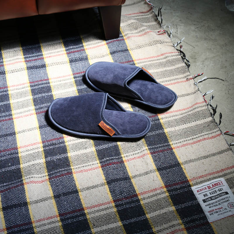 CORDUROY SLIPPERS WOMEN_BLUE
