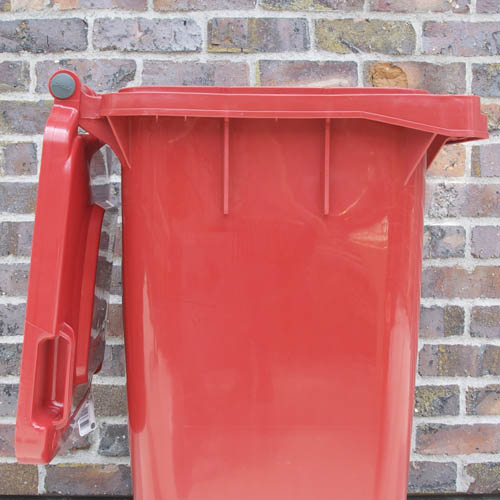 PLASTIC TRASH CAN 120L YELLOW