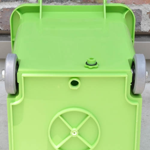 PLASTIC TRASH CAN 18L GREEN