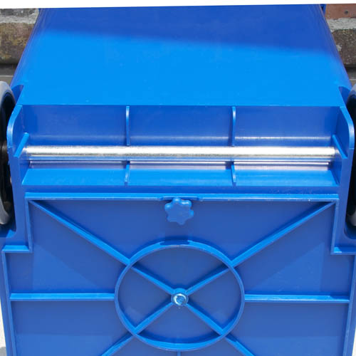 PLASTIC TRASH CAN 65L BROWN