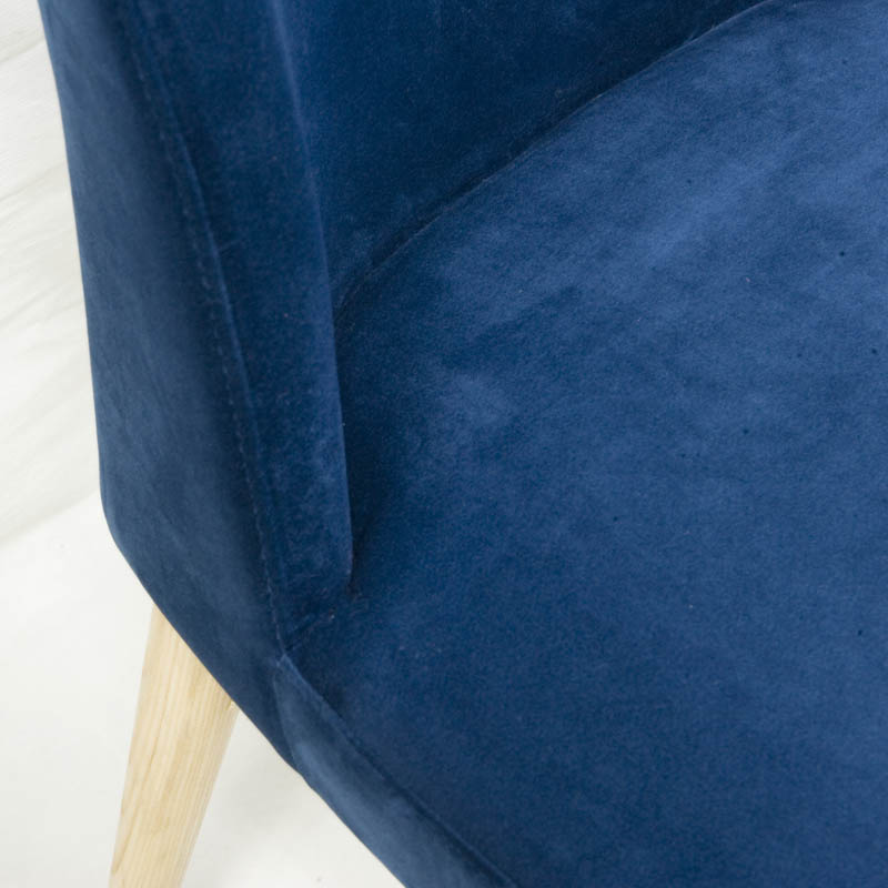 VELVET CHAIR BLUE