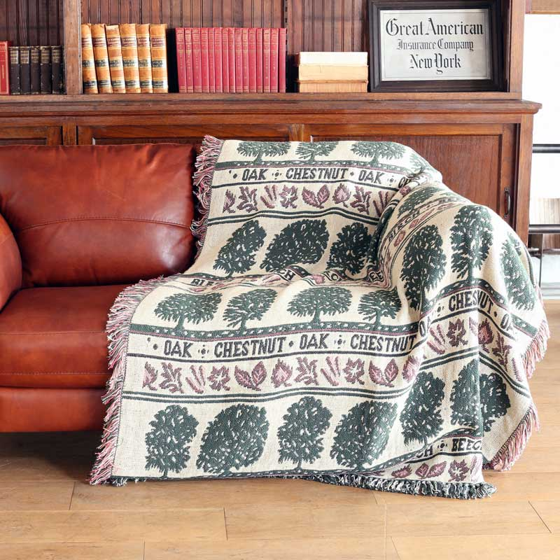 JACQUARD THROW ''FOREST''