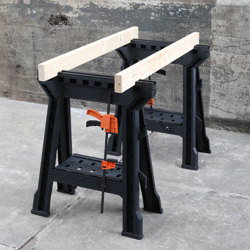 SAWHORSE PAIR WITH BAR CLAMPS