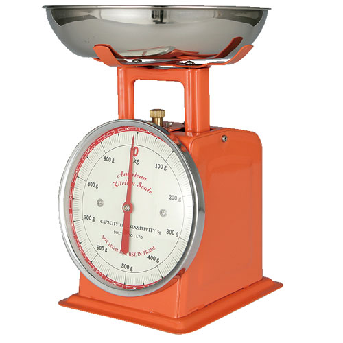 AMERICAN KITCHEN SCALE ORANGE