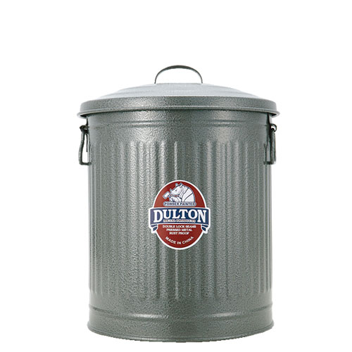 GARBAGE CAN GRAY-S