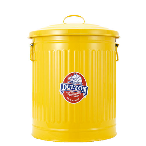 GARBAGE CAN YELLOW-M