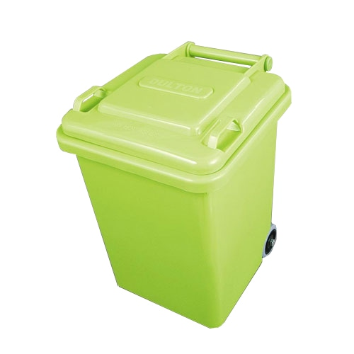 PLASTIC TRASH CAN 18L LIGHT GREEN