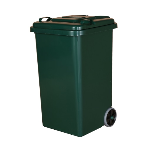 PLASTIC TRASH CAN 65L GREEN