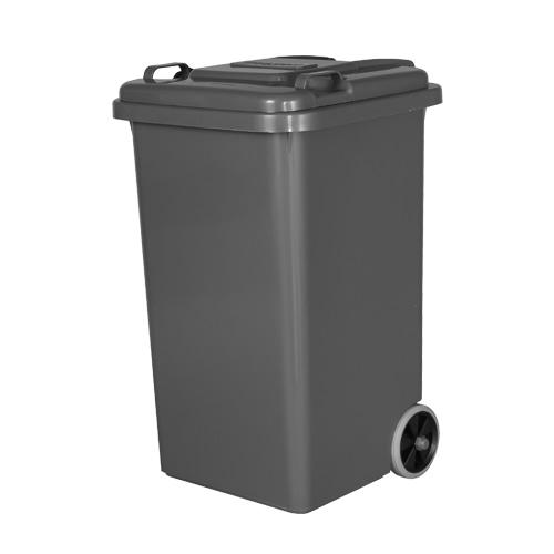 PLASTIC TRASH CAN 65L GRAY