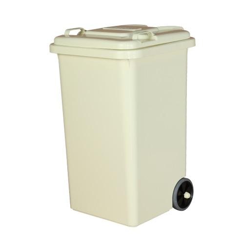 PLASTIC TRASH CAN 65L IVORY