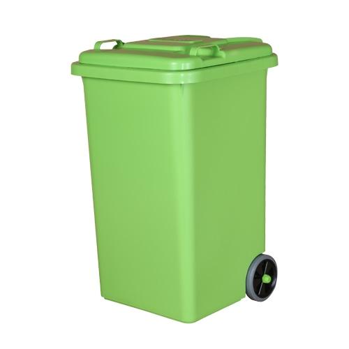 PLASTIC TRASH CAN 65L L.GREEN