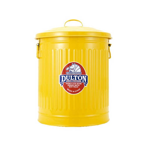 MINI GARBAGE CAN YELLOW-M