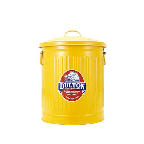 MINI GARBAGE CAN YELLOW-S