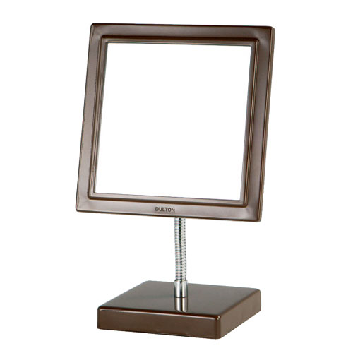 SQUARE MIRROR BROWN