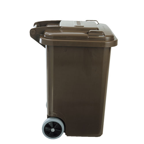 PLASTIC TRASH CAN 45L BROWN