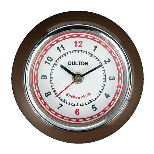 KITCHEN CLOCK BROWN