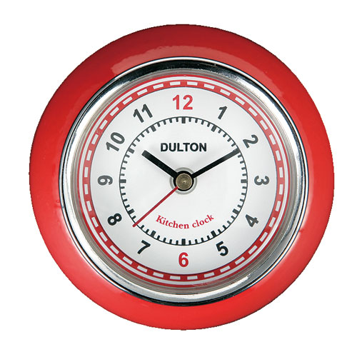 KITCHEN CLOCK RED