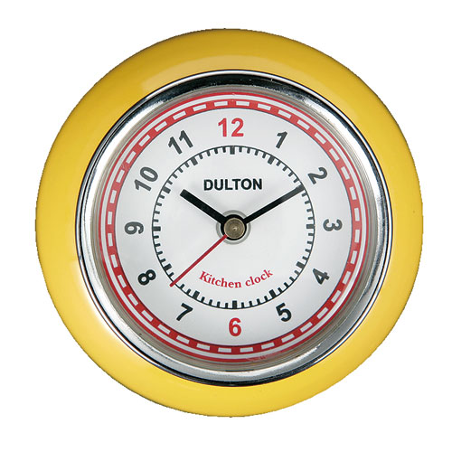 KITCHEN CLOCK YELLOW