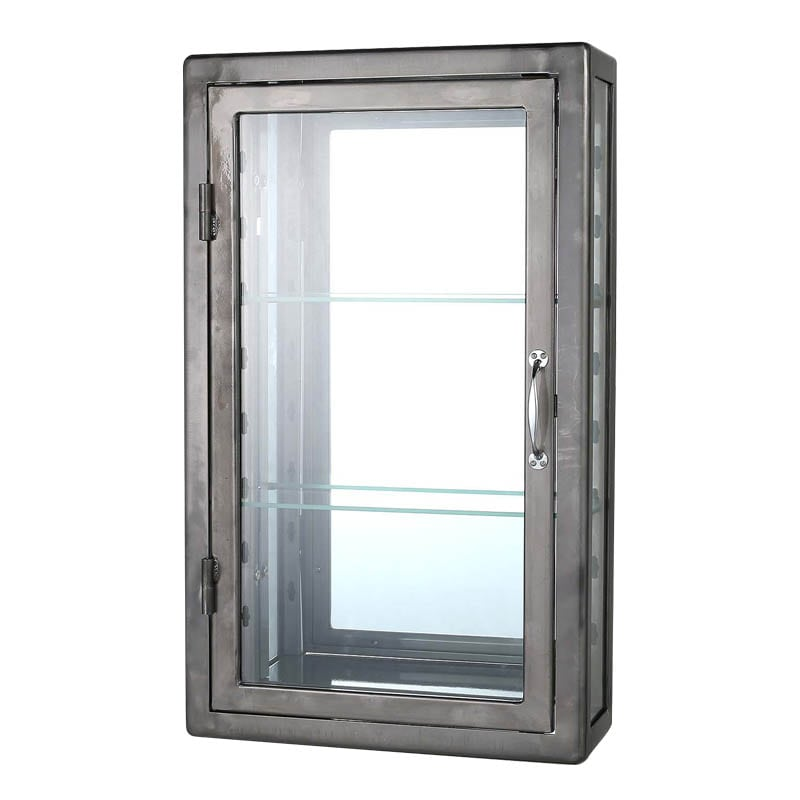 WALL MOUNT GLASS CABINET RAW