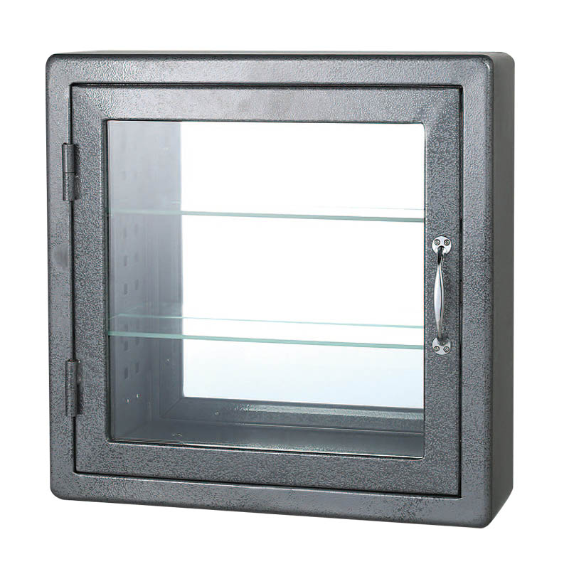 WALL MOUNT GLASS CABINET GY