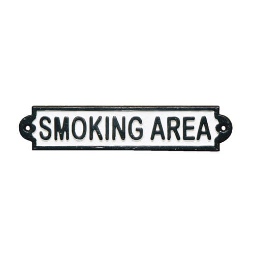 IRON SIGN ''SMOKING AREA''