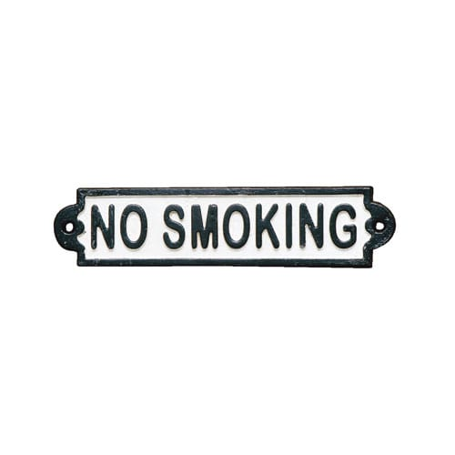 IRON SIGN ''NO SMOKING''