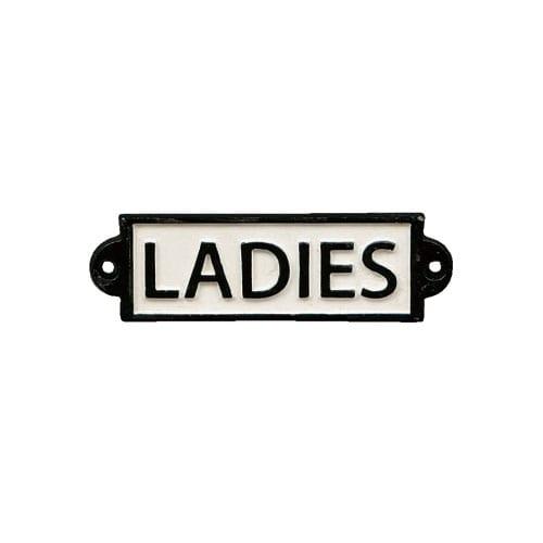 IRON SIGN ''LADIES''
