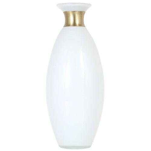 AGANIBUCK VASE H39 WHITE