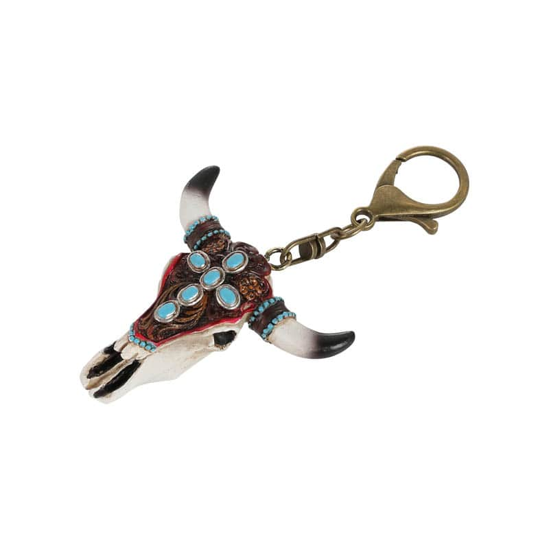 OX SKULL KEY CHAIN D