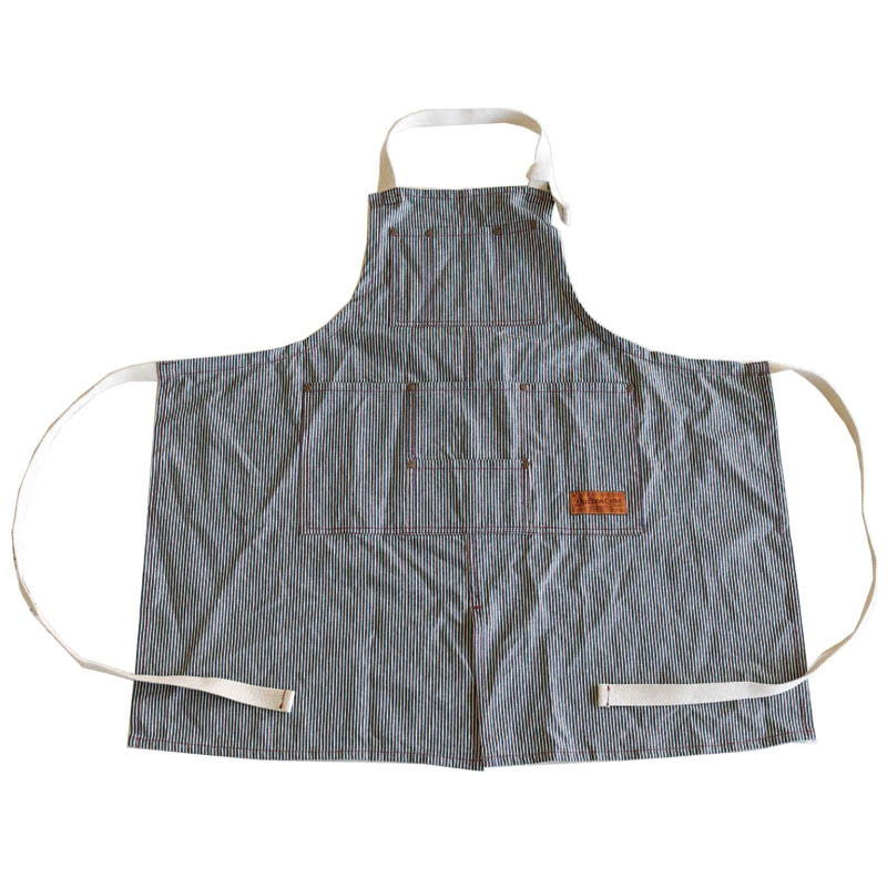 """MW'' WORK APRON HICKORY STRIPE"