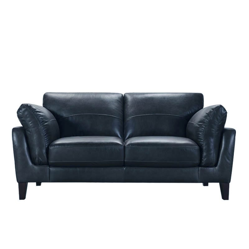 LEATHER SOFA 2 SEATER NAVY