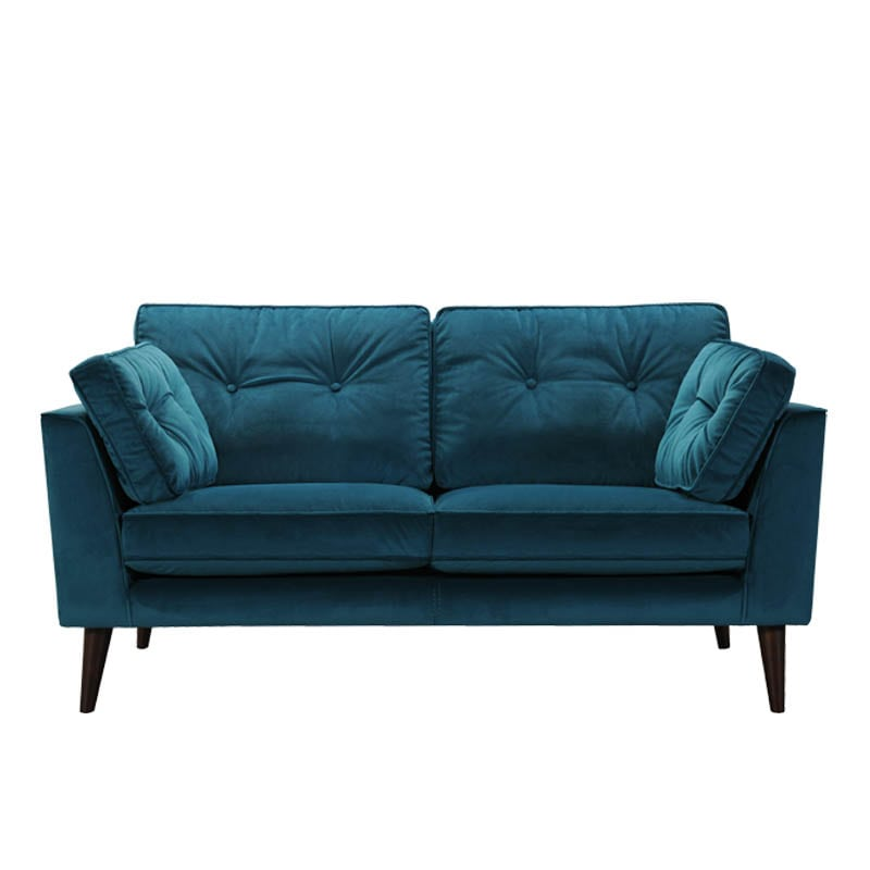VELVET SOFA 2 SEATER BLUE