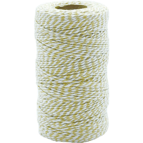 TWISTED STRING WHITE/MUSTARD