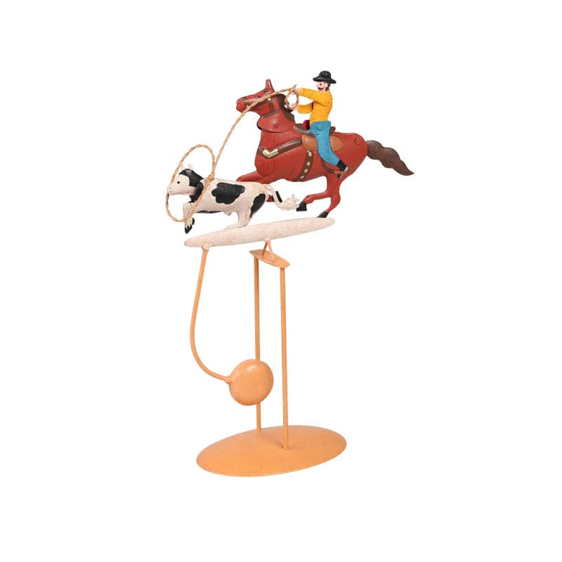 BALANCE ORNAMENT COW BOY&COW