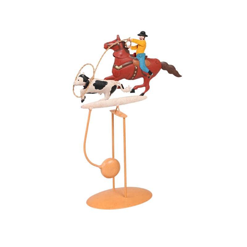 BALANCE ORNAMENT COW BOY&COW