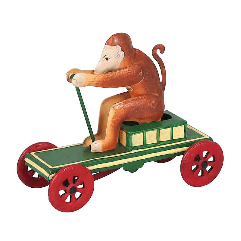MONKEY ON PULL CART