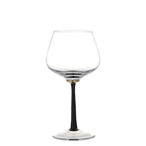 GOLD POINT GLASS  BURGUNDY WINE BLACK