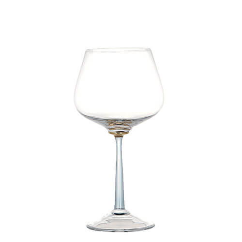 GOLD POINT GLASS  BURGUNDY WINE BLUE