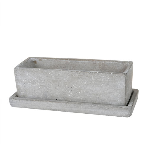 SOLID PLANTER RECTANGLE L PLAIN