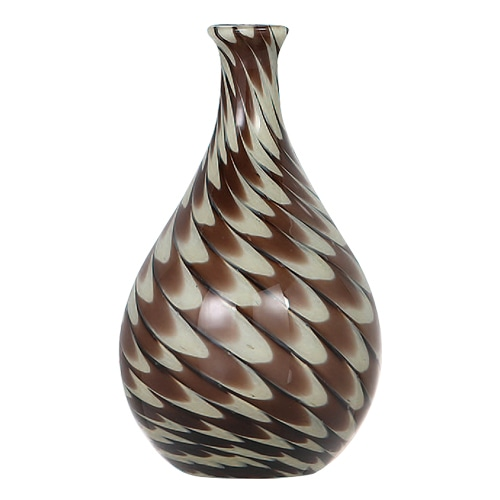 GLASS VASE PAVO L BROWN