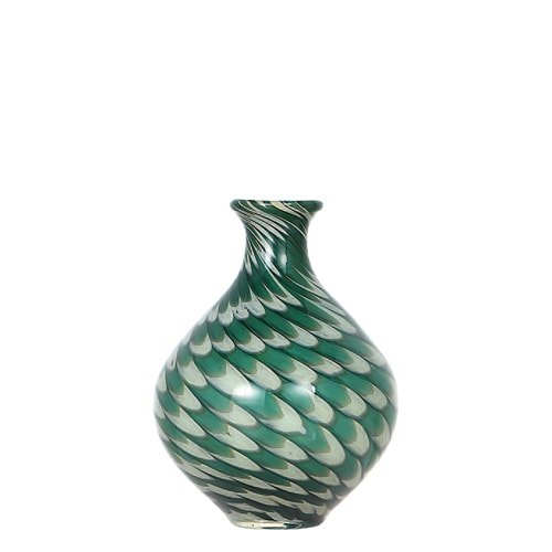 GLASS VASE PAVO S GREEN