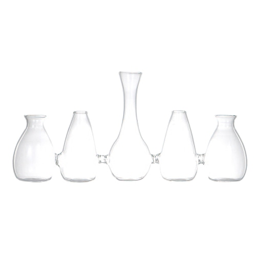 GLASS VASE Sparaxis Parade B