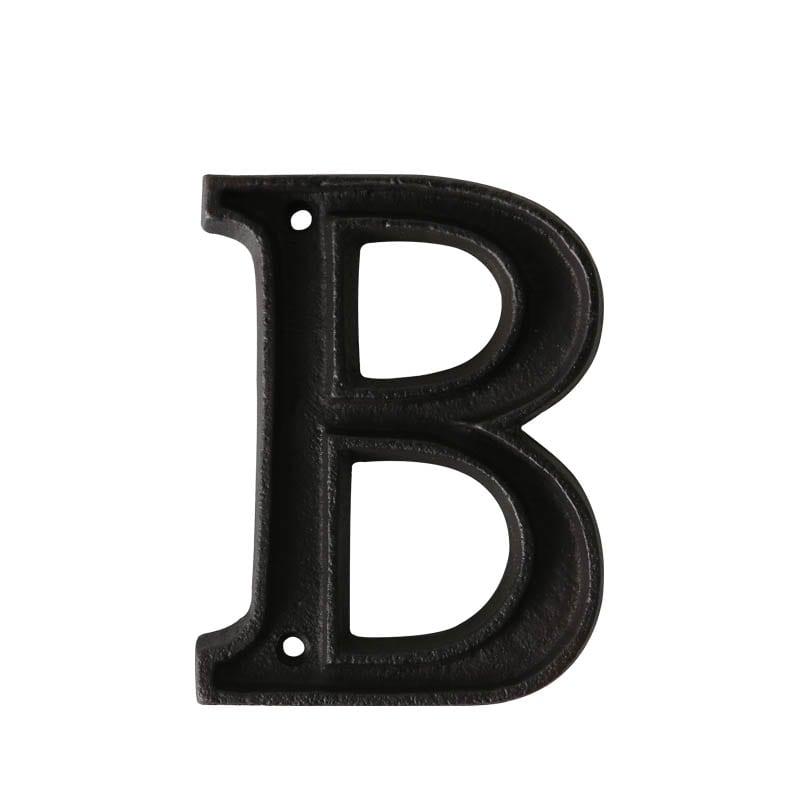 "METAL LETTER ""B"" MATT BLACK"