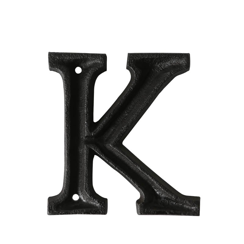 "METAL LETTER ""K"" MATT BLACK"