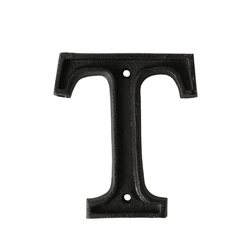 "METAL LETTER ""T"" MATT BLACK"