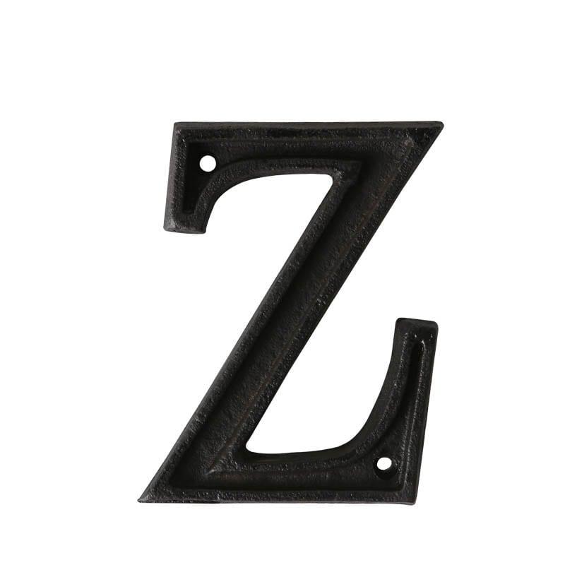 """METAL LETTER """"Z"""" MATT BLACK"""